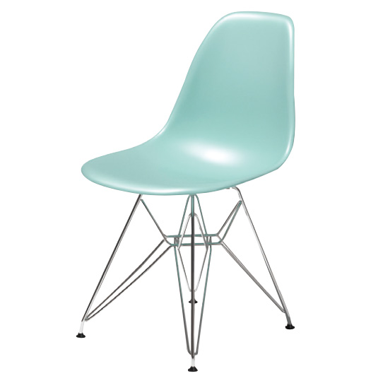 EAMES MOLDED PLASTIC SIDE CHAIR DSR