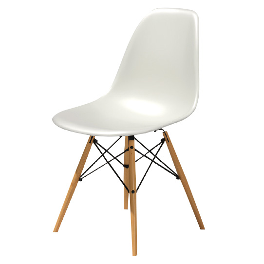 EAMES MOLDED PLASTIC SIDE CHAIR DSW