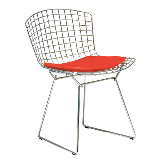 Bertoia Collection Side Chair with Seat Pad ベルトイアコレクションサイドチェア