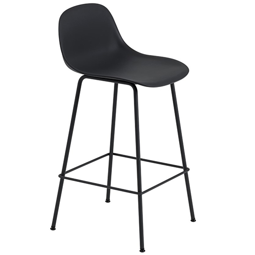 FIBER BAR STOOL W. BACKREST TUBE BASE ファイバーバースツール